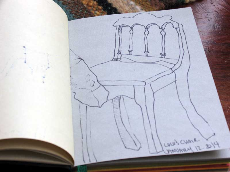 """Objets"" sketchbook, ""Lulu's Chairs"""