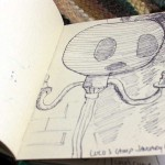 """Objets"" sketchbook, ""Lulu's Lamp"""