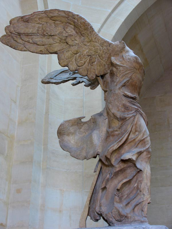Winged Victory in The Louvre, Paris.