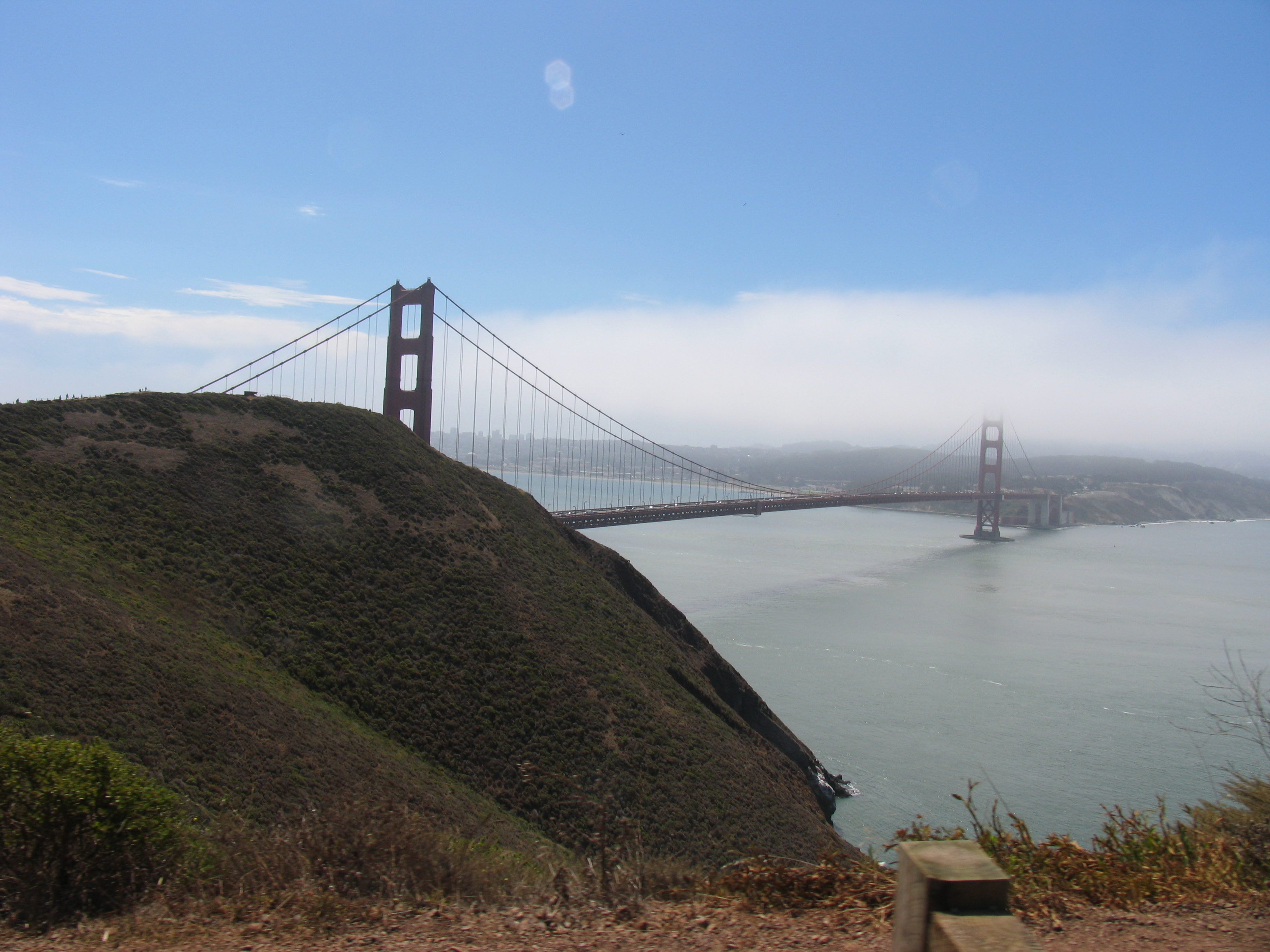The Golden Gate Bridge from the Marin side.