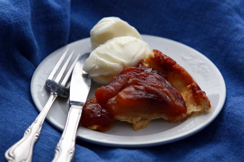Tarte Tatin with Vanilla Ice Cream from my kitchen.