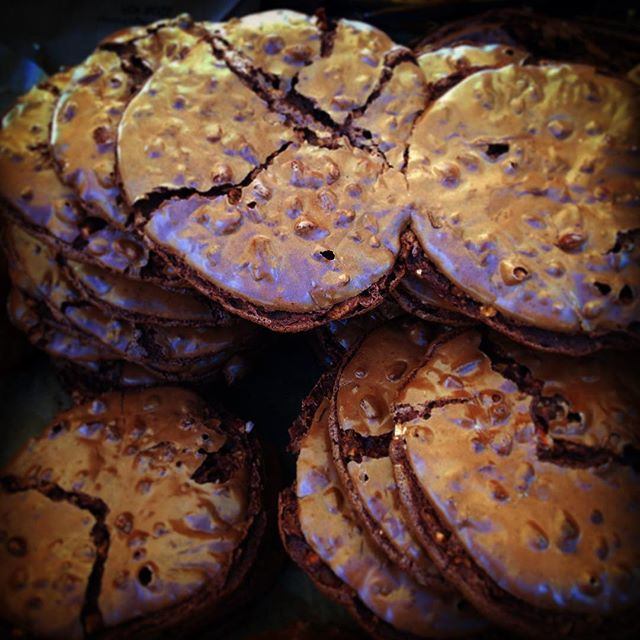 Chocolate nutty cookies at the BFM.