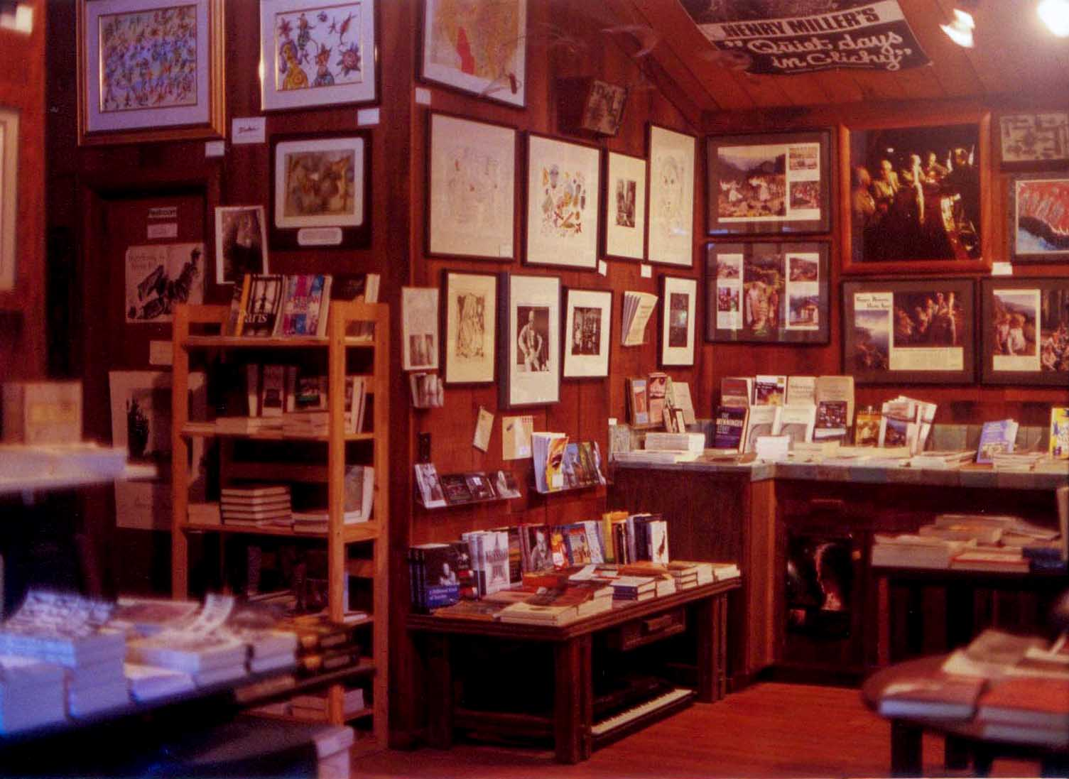 Inside the Henry Miller Library in Big Sur, circa 2002. c. Kimberly Kradel