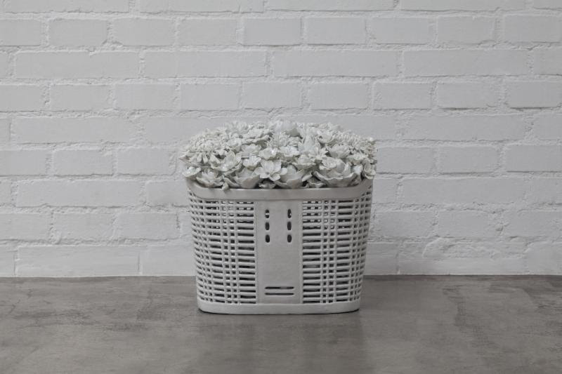 AI WEIWEI, BICYCLE BASKET IN PORCELAIN, 2015