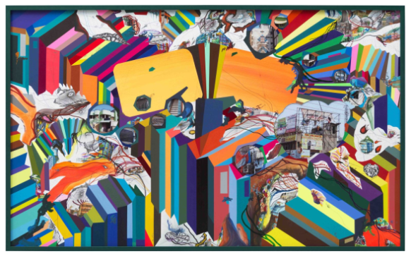 Franz Ackermann, Your Plastic, Your Travel, 2013, mixed media on paper, 180 x 285 cm