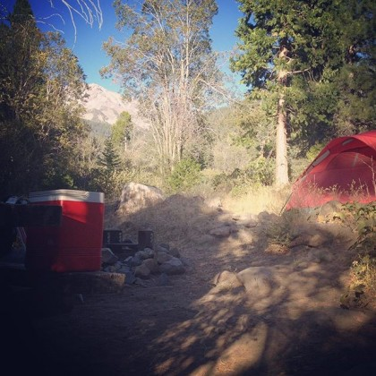Campsite on Mt. Shasta