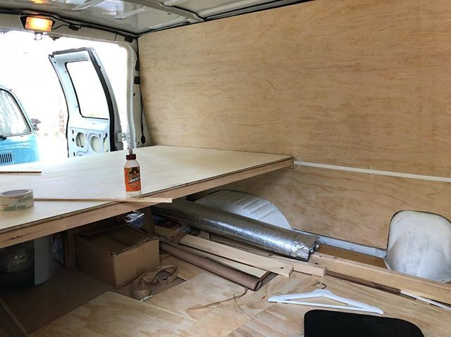 Creating my new home and work space on wheels.