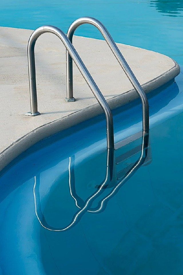Natalie Christensen, Deep Blue Pool, archival pigment print on dibond, ed. 10, 30 x 20 in.