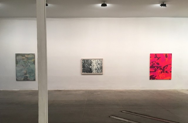 Installation view (l to r): Eugenio Basualdo, John Pomara, Carl Fudge