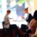 Painterly photograph from the Elmwood Cafe in Berkeley.