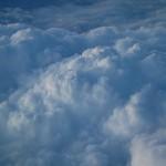 Clouds in flight.
