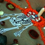Altar display at Day of the Dead in Oakland.