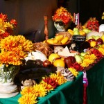 Altar table at Day of the Dead in Oakland.