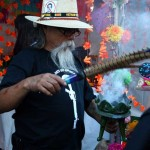 Day of the Dead smudging in Oakland