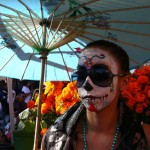 Painted face at Day of the Dead in Oakland