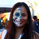 Lovely painted face at Day of the Dead in Oakland.