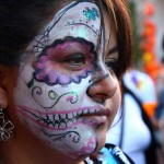 Painted face at the Day of the Dead festival in Oakland.