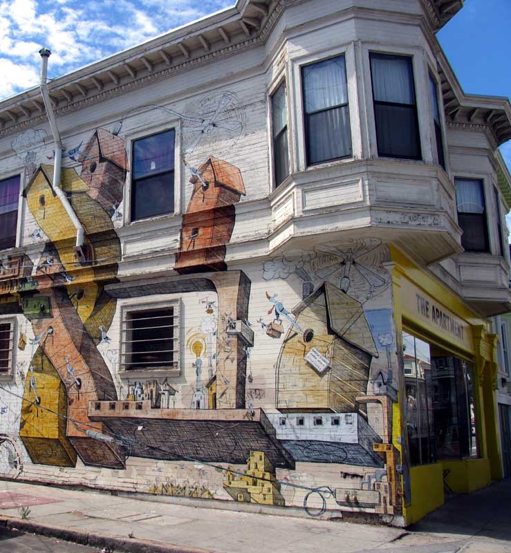 House mural, San Francisco