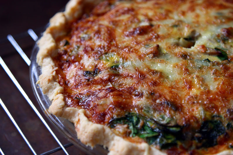 Spinach QUiche from my kitchen.
