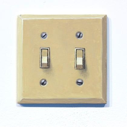 DOUG PADGETT , Untitled (double light switch I), 2013