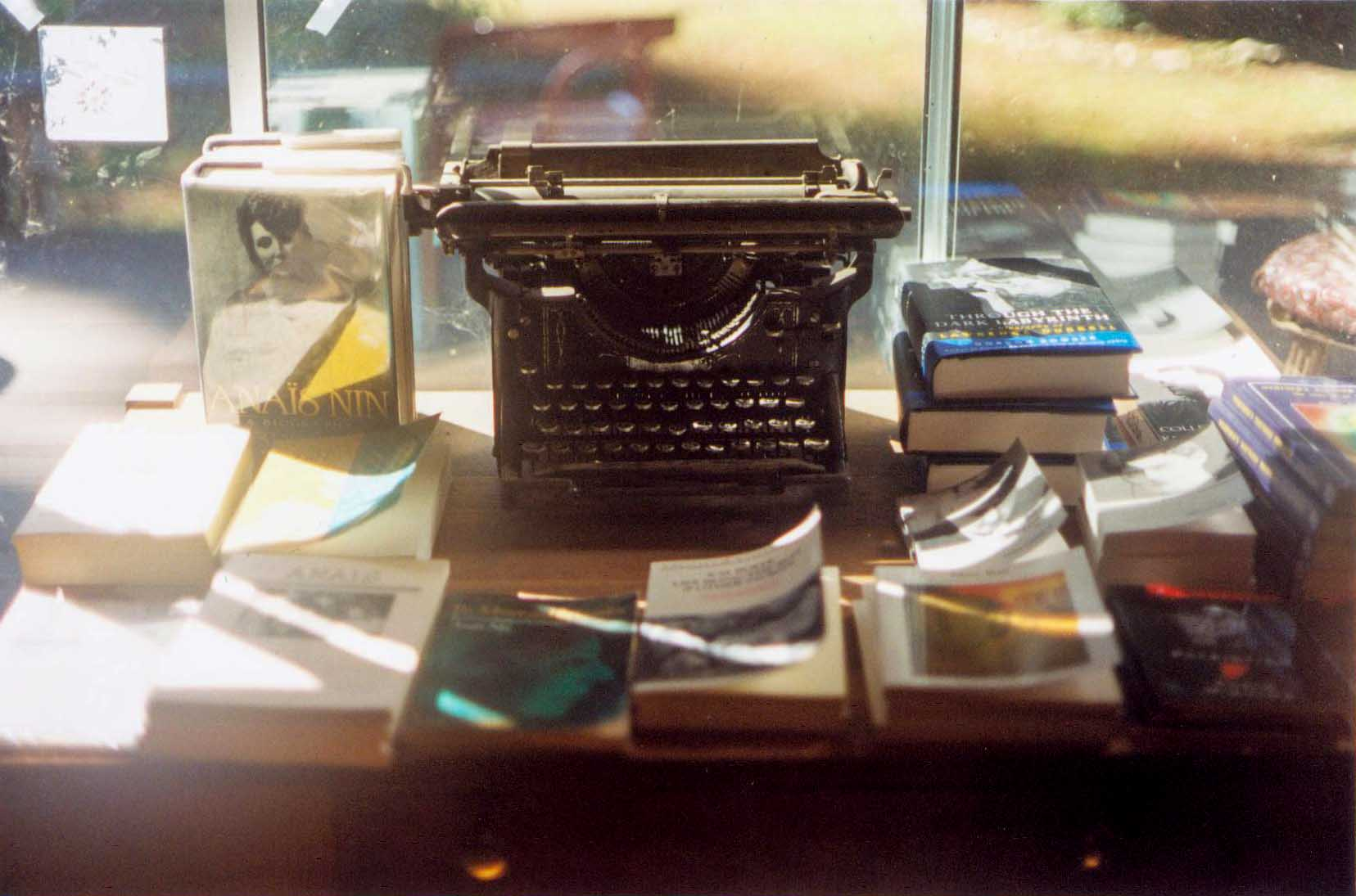One of Henry Miller's Typewriters on display at the Henry Miller Library in Big Sur c. Kimberly Kradel