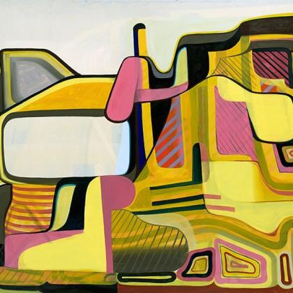 Tom Burckhardt, City Slang, 2015, Oil on linen, 48 x 60 in