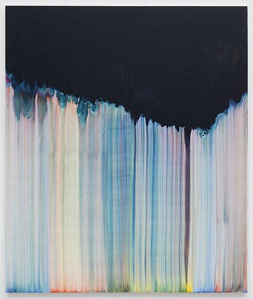 "Bernard Frize, ""Novea"" 2016. Acrylic paint and resin on canvas, aluminium stretchers. 190 x 160 cm / 74 13/16 x 63 inches"