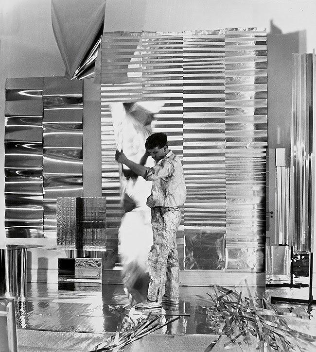Heinz Mack in his studio in Düsseldorf, 1959 Photo: Archive Heinz Mack