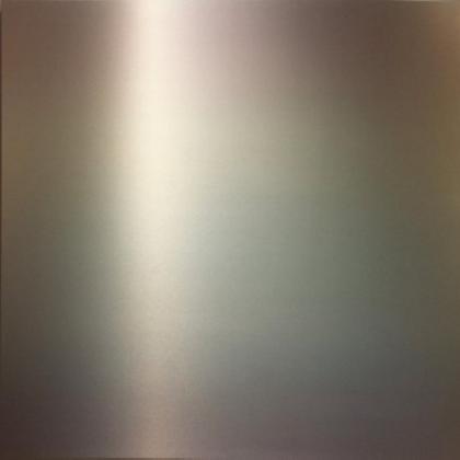 Miya Ando, Rainbow, 2014, Aluminum and Pigment, 48 x 48 Inches