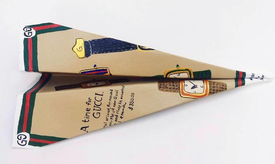 Gucci Airplane, 11.25x5.25x3, Paper paint glue, 2016