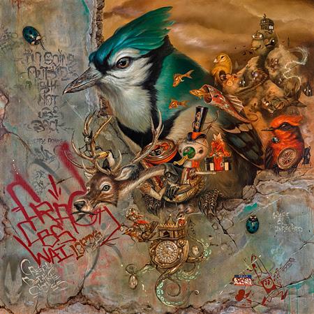 """Greg 'Craola' Simkins, """"Beyond Shadows,"""" 2016, acrylic on canvas, 72 x 72"""""""