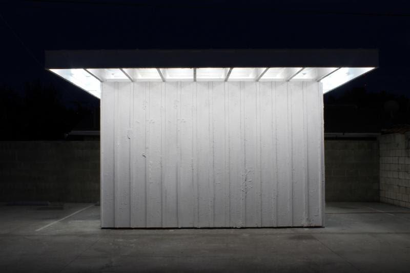 Arturo Bandini (Los Angeles) 2015  I-Joists, Wood, Stucco, Drywall, Fluorescent Lights, Linoleum  Courtesy the artists and Ballroom Marfa