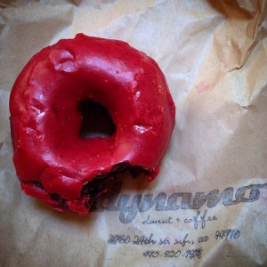 Gluten/Wheat Free Chocolate Raspberry Donut!