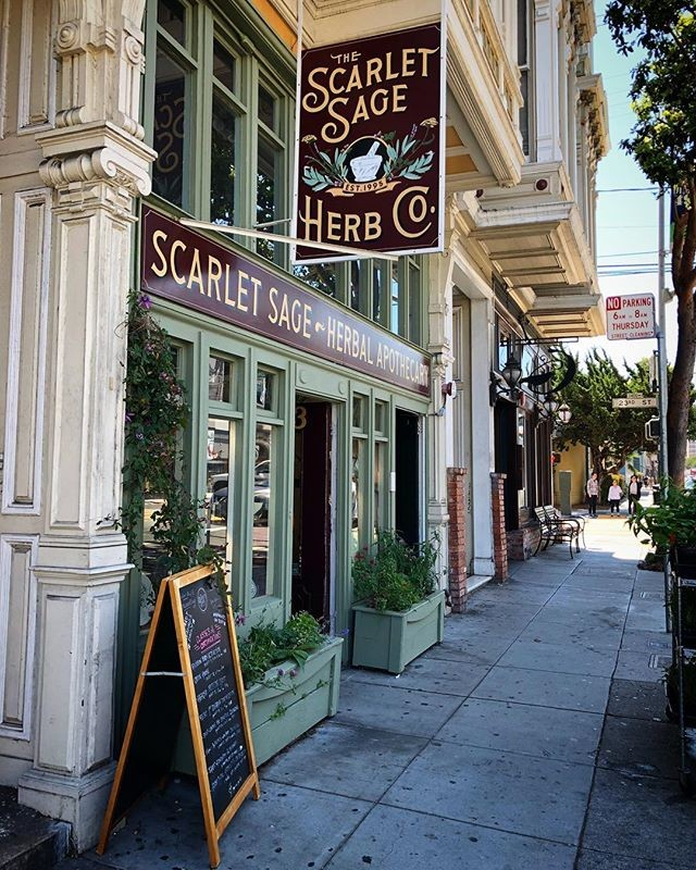 The Scarlet Sage on Valencia Street.