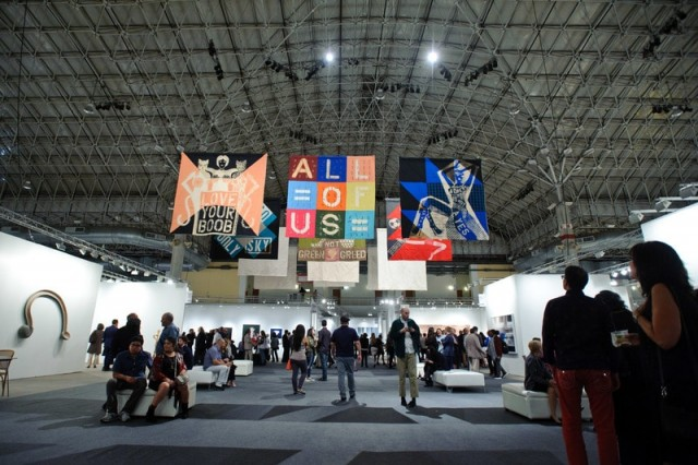 """EXPO CHICAGO 2017 featuring work by Lara Schnitger (Anton Kern) as part of IN/SITU """"Chronopolitics,"""" curated by Florence Derieux."""