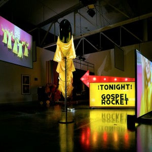Mike Kelley, Extracurricular Activity Projective Reconstruction #27 (Gospel Rocket), 2004–05, mixed media with video projections, 7 feet 6 inches × 16 feet 8 inches × 18 feet 6 inches (228.6 × 508 × 563.9 cm) © Mike Kelley Foundation for the Arts. All rights reserved/Licensed by VAGA at Artists Rights Society (ARS), New York. Photo: Fredrik Nilsen