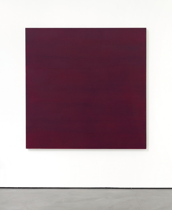 Phil Sims, Red/Violet Sea Painting, 2017  acrylic on linen, 60 x 60 inches