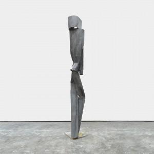 Henna Vainio, Legs (black), 2018, Plaster, pigment, fiberglass, steel, 80 x 12 x 12 inches