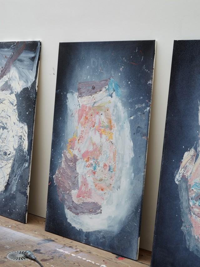 Georg Baselitz's studio, Ammersee, Germany, 2018. Artwork © Georg Baselitz. Photo: Martin Müller, Berlin
