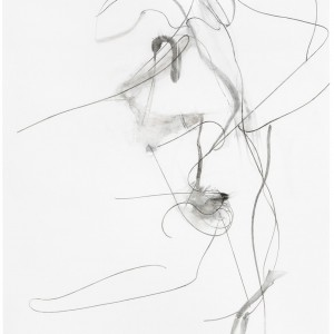 Albert Oehlen, Untitled, 2012, charcoal on paper, 118 1/8 × 78 3/4 inches (300 × 200 cm) © Albert Oehlen