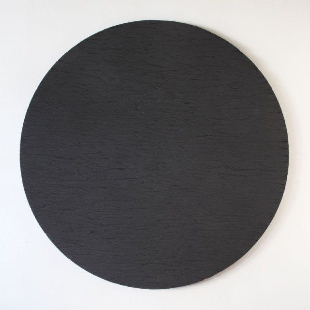 Jonathan Anzalone, Mid-beach, 2019 Sand and house paint on plywood, 60 inches diameter