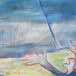 ELawrence Ferlinghetti, Eco-Man, 1992/2005, Oil on canvas, 36 x 52 inches