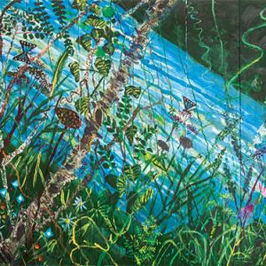 Kim Chong-Hak, River, 1987. 195 x 313 cm / 76 9/16 x 123 1/4 in. Courtesy the artist & Perrotin