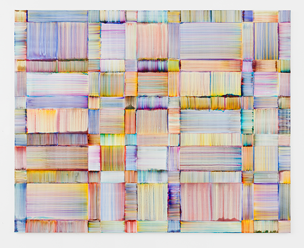 Bernard Frize, Cerc, 2018. Acrylic and resin on canvas. 180 x 225 cm | 70 7/8 x 88 9/16 in © Bernard Frize / ADAGP, Paris & JASPAR, Tokyo, 2019