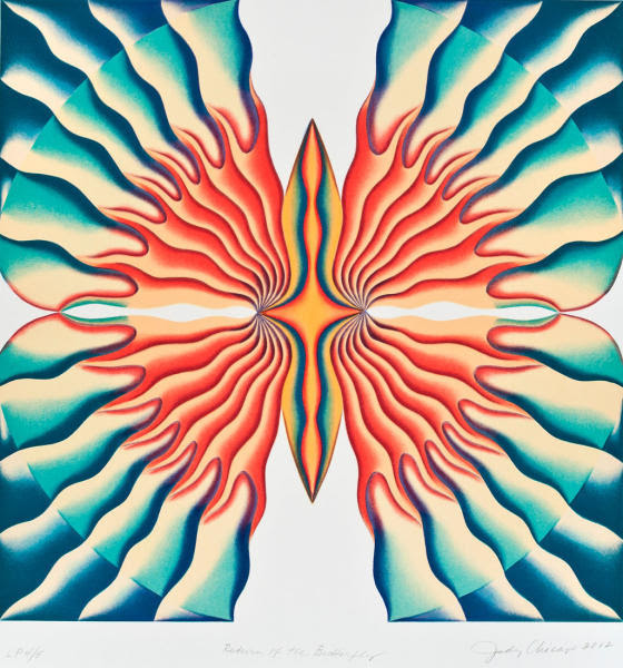 Judy Chicago, Return of the Butterfly, lithograph, 26.25 x 25.75 in.