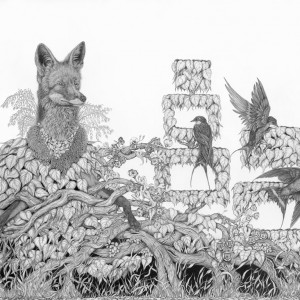 Tara Tucker, Surviving on one pure thought a day, 2019, graphite on paper, 36 x 52 inches