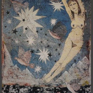 Kiki Smith, Sky, 2012, Jacquard tapestry, 119 x 76 1/2 inches, edition of 10