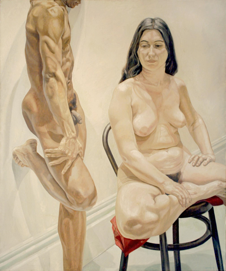 Philip Pearlstein, Standing Male, Sitting Female Nudes, 1969, Oil on canvas, 188 x 157,4 cm, 74 x 62 in.