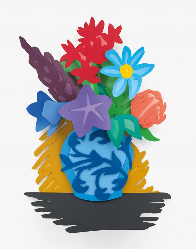 Tom Wesselmann, Mixed Bouquet (Filled In), 1993, oil on cutout aluminum, 74 × 52 × 7 1/2 inches (188 × 132.1 × 19.1 cm) © The Estate of Tom Wesselmann/Licensed by ARS/VAGA, New York