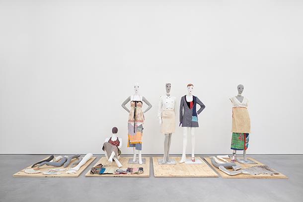 Susan Cianciolo, Platforms 1 - 4, 1990-2017 (installation view).  Courtesy Stuart Shave/Modern Art, London. Copyright the Artist. Photo: Robert Glowacki.